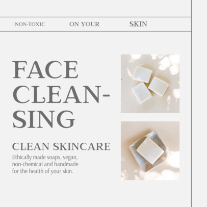 Instagram Post Template with a Non-Toxic Soap for Clean Skin 4335b-el1