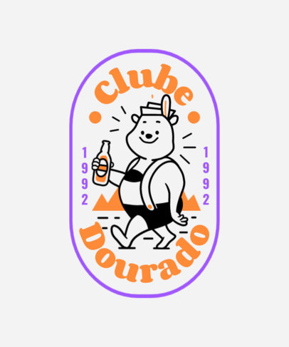 T-Shirt Design Creator for a Beer Club with a Smiling Bear Graphic 4047c