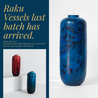Instagram Post Maker to Showcase a Collection of Vessels 4339a-el1