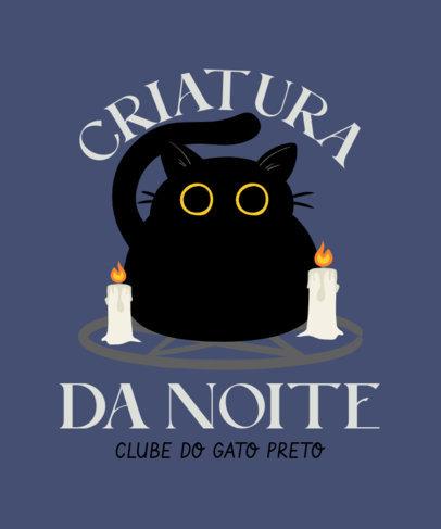 T-Shirt Design Maker Featuring a Cartoonish Cat with Candles 4044e