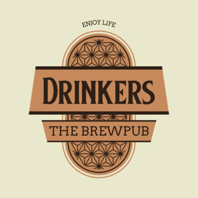 Brewery Logo Maker Featuring a Graphic with an Abstract Pattern 4632d