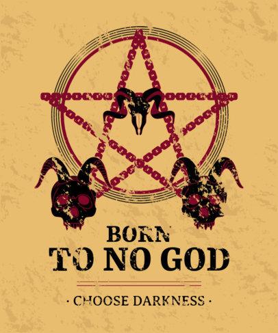 Satanic T-Shirt Design Generator With a Pentagram Graphic 4041c