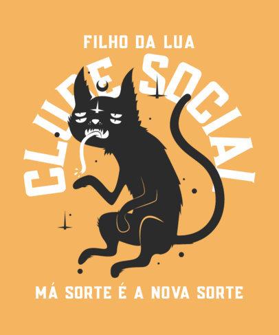 T-Shirt Design Creator Featuring a Tired Mystical Cat Clipart 4045d