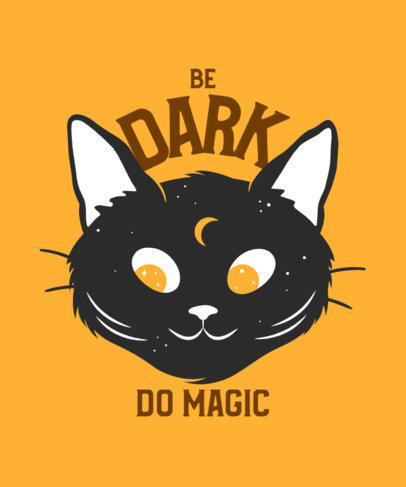 T-Shirt Design Maker Featuring a Cute Mystical Cat Graphic and a Quote 4045i