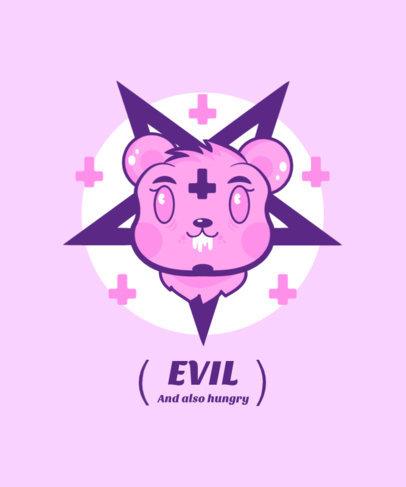 Kawaii T-Shirt Design Maker Featuring an Evil Hamster 4037e