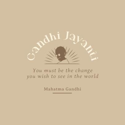 Instagram Post Template to Celebrate Gandhi Jayanti 3925k-4075