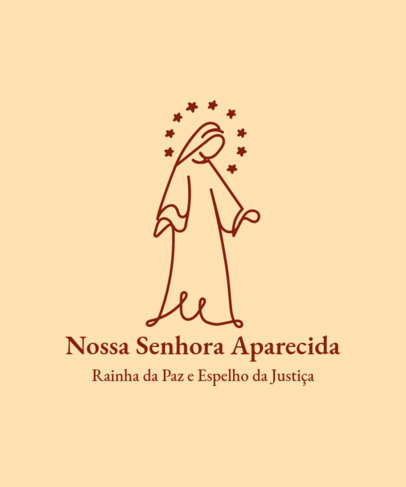 T-Shirt Design Generator with an Abstract Graphic of Nossa Senhora Aparecida 4067b