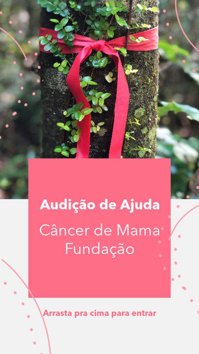 Instagram Story Generator for a Breast Cancer Foundation 4064g