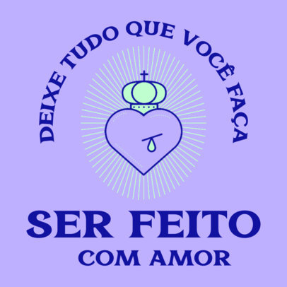 Facebook Post Generator with a Heart Graphic in Honor of Our Lady of Aparecida 4065a