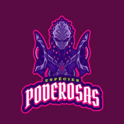 Gaming Logo Generator Featuring a StarCraft-Inspired Evil Character 4647f