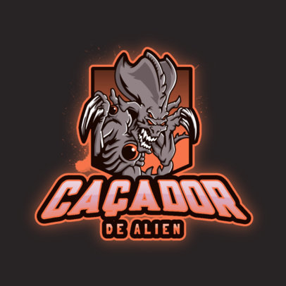 StarCraft-Inspired Gaming Logo Creator Featuring an Alien Graphic 4644d