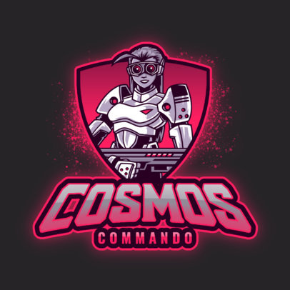 Logo Maker for an eSports Team Featuring a Cyborg Inspired by StarCraft 4644c
