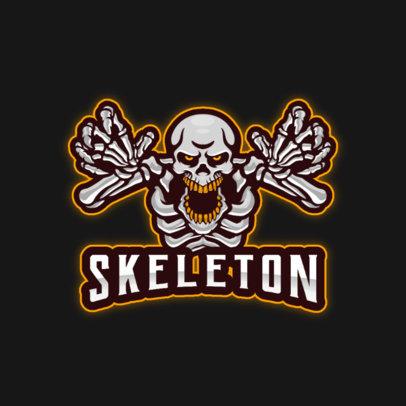 Gaming Logo Creator Featuring a Spooky Skeleton Graphic 4406d-el1