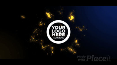 Intro Video Maker Featuring an Explosive Animation for a Logo Reveal 3222-el1