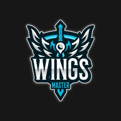 Emblem Logo Maker Featuring a Sword with Wings 4404b-el1