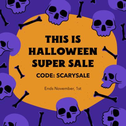 Instagram Post Template for Halloween Season Sales 4080
