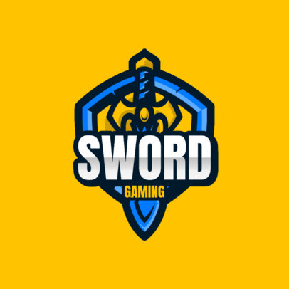 Sword-Themed Logo Template for Gamers 4404a-el1