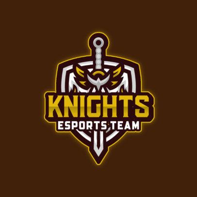 Gaming Team Logo Maker with a Sword and Shield Emblem 4404d-el1