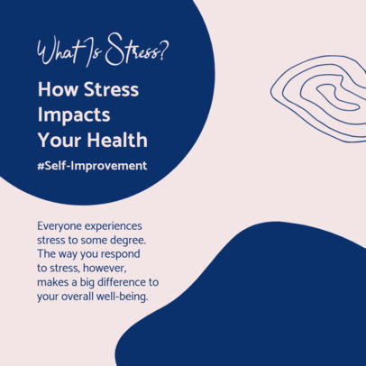 Mental Health-Themed Instagram Post Maker to Talk About Stress 4420d-el1