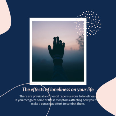 Mental Health Day-Themed Instagram Post Creator to Talk About Loneliness 4422a-el1