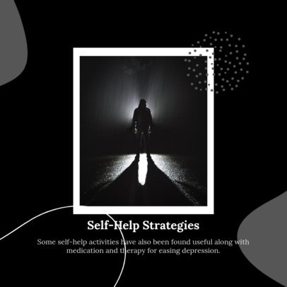 Instagram Post Generator with Information About Self-Help for Mental Health 4422c-el1