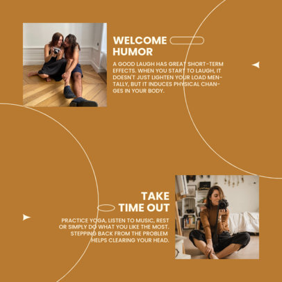 Mental Health-Themed Instagram Post Design Maker for a Carousel With a Minimal Layout 4413F-el1
