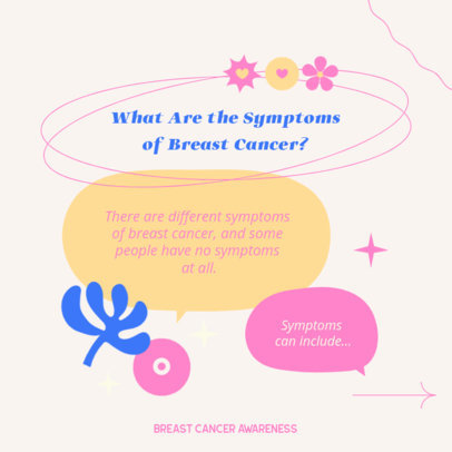 Instagram Post Design Creator Featuring a Breast Cancer Awareness Theme 4063c