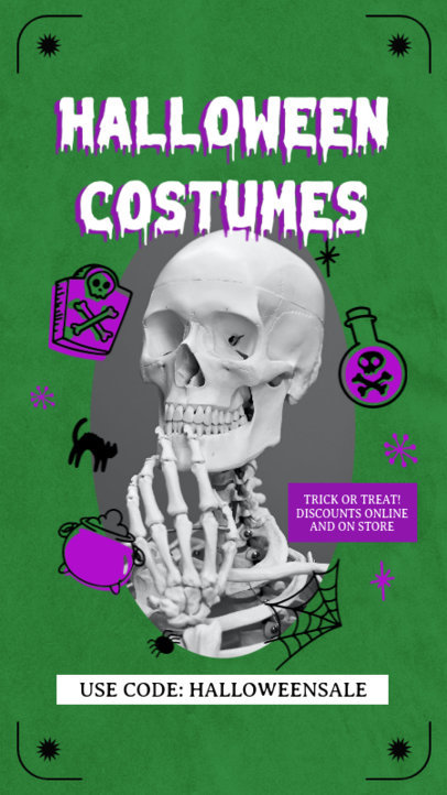 Fun Instagram Story Creator for a Halloween Costumes Special Sale 4082e