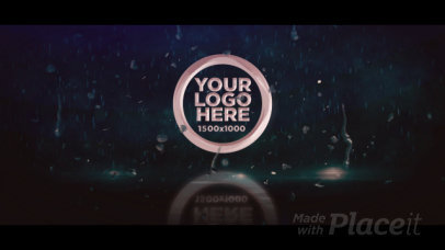Intro Video Creator Featuring a Logo Reveal and Rain Animations 3252-el1