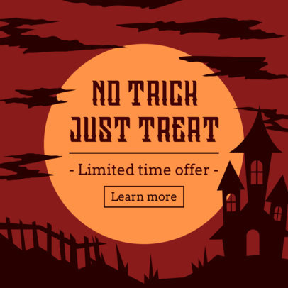 Ad Banner Template for a Halloween Limited Time Offer 4079d
