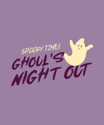 T-Shirt Design Generator for a Girls' Halloween Squad with a Ghost Silhouette 4077d