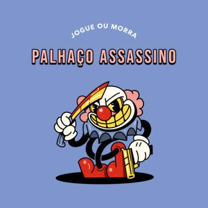 Gaming Logo Maker Featuring a Cartoonish Evil Clown 4658b