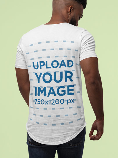 Mockup of the Back of a Tall Man Wearing a Bella Canvas T-Shirt M13932
