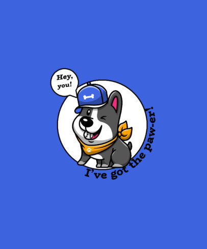 Quote T-Shirt Design Maker with a Fun Dog-Themed Pun 4441e-el1