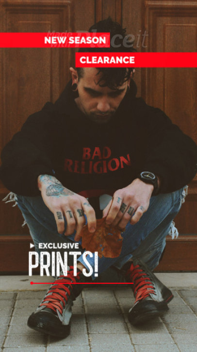 Instagram Story Video Creator for a Streetwear's Exclusive Prints Ad 2453e 4112-el1