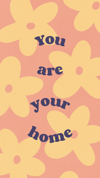 Instagram Story Maker with a Floral Background for a Quote 4014a