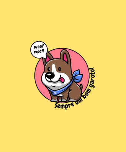 Sweet T-Shirt Design Template for a Brazilian Dog Owner 4441d-el1