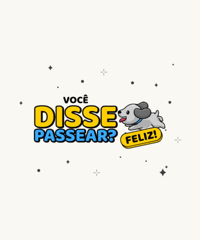 T-Shirt Design Maker for Dog Enthusiasts With a Quote in Portuguese 4439e-el1