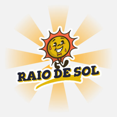 Logo Template for a Streetwear Shop with a Vintage Sun Cartoon 4680f