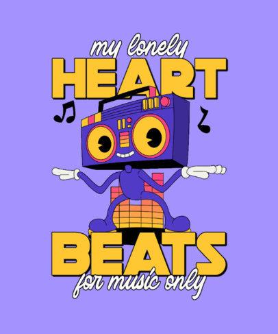 Retro T-Shirt Design Generator with an Illustrated Beatbox Cartoon 4681a