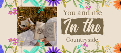 Facebook Cover Maker Featuring a Cottagecore Style with Flower Graphics 4097a