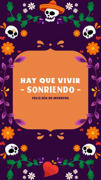 Festive Facebook Story Template for the Día de Muertos Holiday 4107c