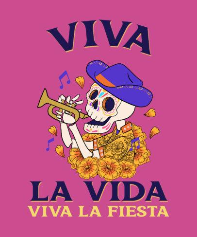 T-Shirt Design Generator Featuring Dia de Muertos Illustrations 4103e