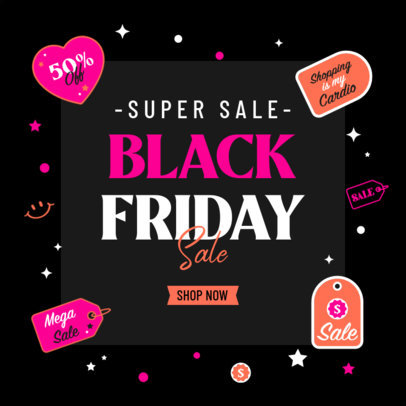Ad Banner Design Template to Promote Black Friday Sales 4132
