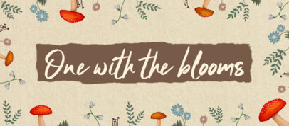 Facebook Cover Creator Featuring a Quote with Cottagecore-Inspired Illustrations 4097b