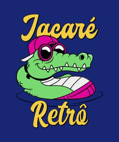 Illustrated T-Shirt Design Maker Featuring a Cool Crocodile Cartoon 4681f