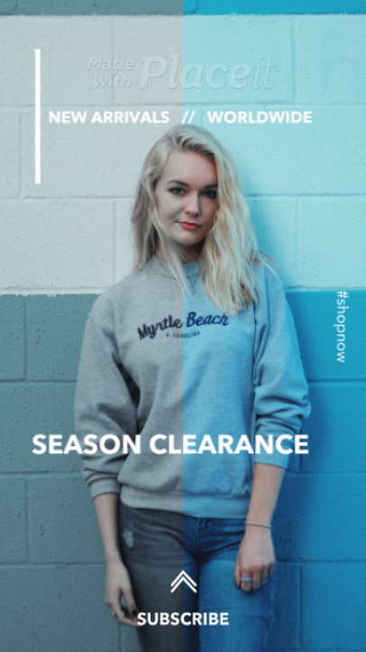 Instagram Story Template for a Clothing Store's Season Clearance Ad 1766b 4138-el1