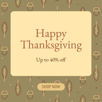 Ad Banner Design Generator Featuring a Thanksgiving Day Theme 4128