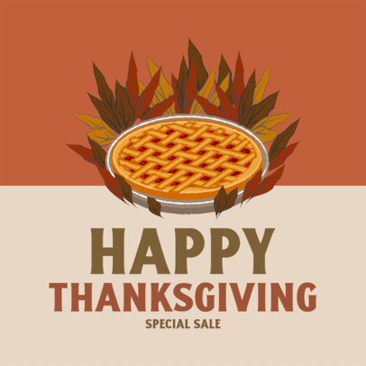 Instagram Post Template Featuring Thanksgiving Special Sale Ads 4126