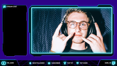 Twitch Overlay Design Maker with a Live Stream Chat Panel 4460a-el1